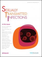 Sexually Transmitted Infections: 88 (8)