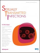 Sexually Transmitted Infections: 89 (7)